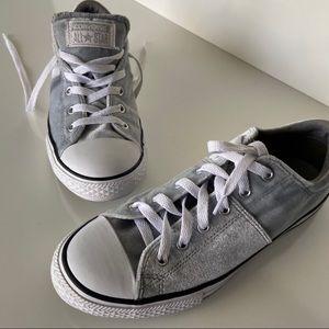 Light gray velvet converse